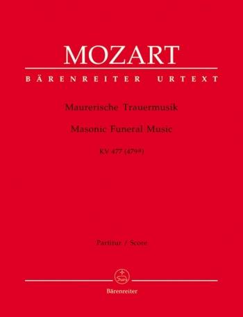 Masonic Funeral Music in C minor (K.477)(K.479a) (Urtext). : Large Score Paperback: (Barenreiter)