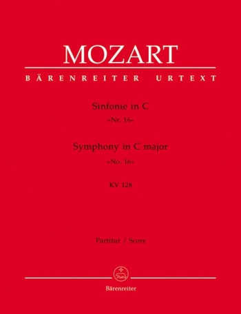 Symphony No.16 in C (K.128) (Urtext). : Large Score Paperback: (Barenreiter)