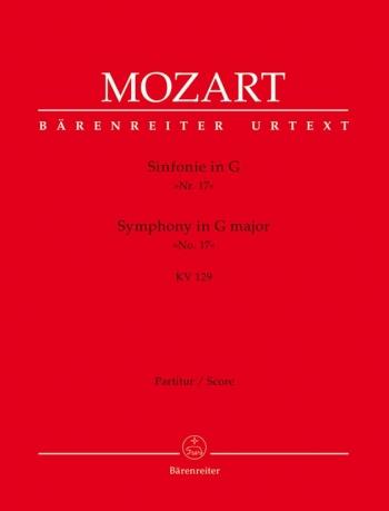Symphony No.17 in G (K.129) (Urtext). : Large Score Paperback: (Barenreiter)