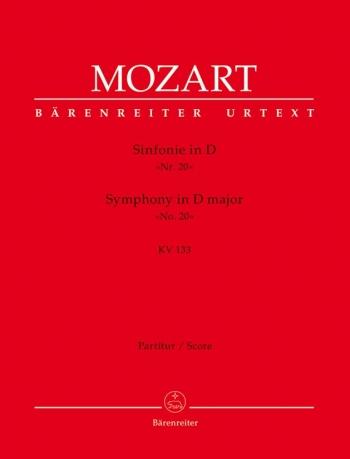Symphony No.20 in D (K.133) (Urtext). : Large Score Paperback: (Barenreiter)