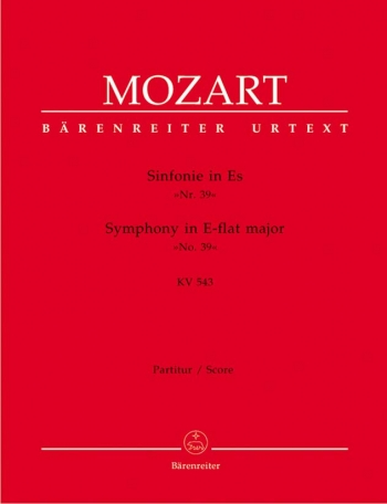 Symphony No.39 in E-flat  (K.543) (Urtext). : Large Score Paperback: (Barenreiter)
