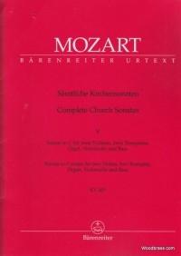 Church Sonatas, Vol. 5: (K.263) (Urtext). : Large Score Paperback: (Barenreiter)