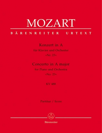Concerto for Piano No.23 in A (K.488) (Urtext). : Large Score Paperback: (Barenreiter)