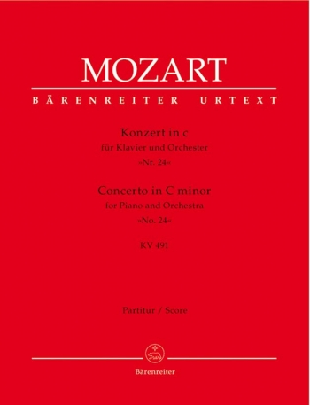 Concerto for Piano No.24 in C minor  (K.491) (Urtext). : Large Score Paperback: (Barenreiter)