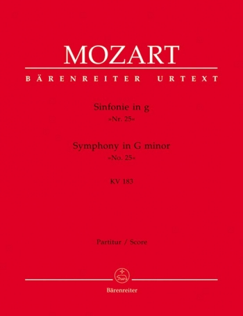 Symphony No.25 in G minor (K.183) (K.173dB) (Urtext). : Large Score Paperback: (Barenreiter)