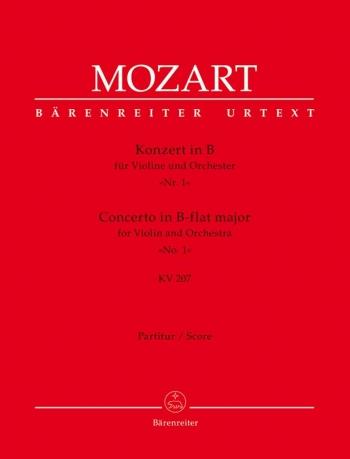 Violin Concerto No.1 B-flat (K.207) (Urtext) Large Score Paperback (Barenreiter)