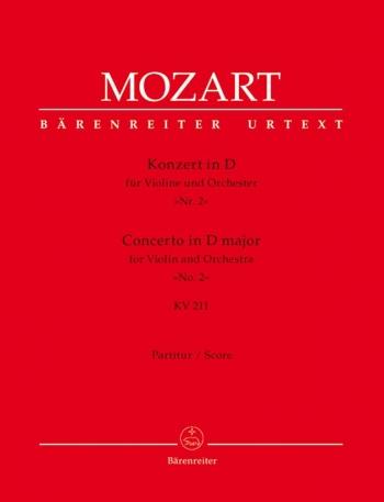 Concerto for Violin No.2 in D (K.211) (Urtext). : Large Score Paperback: (Barenreiter)
