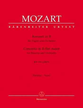 Concerto for Bassoon in B-flat (K.191) (K.186e) (Urtext). : Large Score Paperback: (Barenreiter)