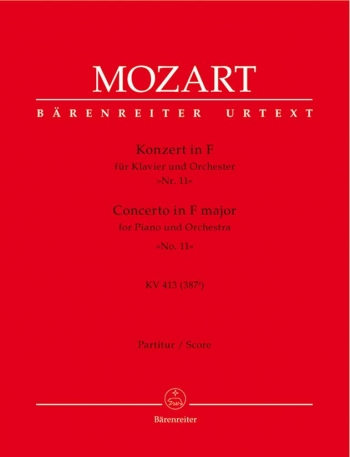 Concerto for Piano No.11 in F  (K.413) (Urtext). : Large Score Paperback: (Barenreiter)