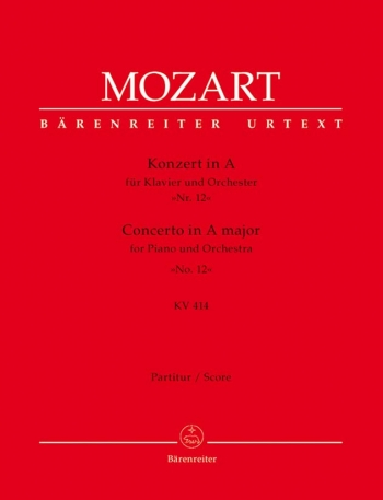 Concerto for Piano No.12 in A  (K.414) (Urtext). : Large Score Paperback: (Barenreiter)