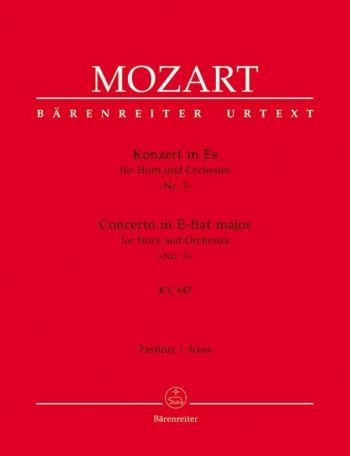 Concerto for Horn No.3 in E-flat (K.447) (Urtext). : Large Score Paperback: (Barenreiter)