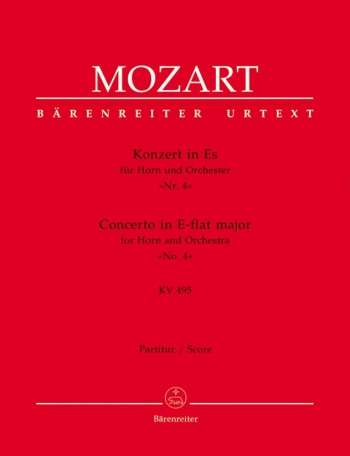 Concerto for Horn No.4 in E-flat (K.495) (Urtext). : Large Score Paperback: (Barenreiter)