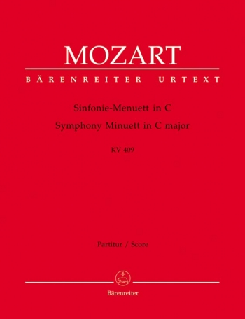 Symphony Minuett in C (K.409) (Urtext). : Large Score Paperback: (Barenreiter)