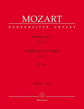 Symphony No.15 in G (K.124) (Urtext). : Large Score Paperback: (Barenreiter)
