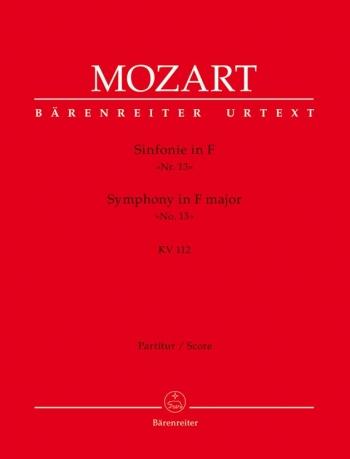 Symphony No.13 in F (K.112) (Urtext). : Large Score Paperback: (Barenreiter)