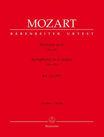 Symphony No.12 in G (K.110) (Urtext). : Large Score Paperback: (Barenreiter)