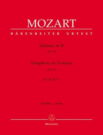 Symphony in D (K.81) (Urtext). : Large Score Paperback: (Barenreiter)