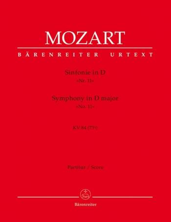 Symphony No.11 in D (K.84/73q) (Urtext). : Large Score Paperback: (Barenreiter)