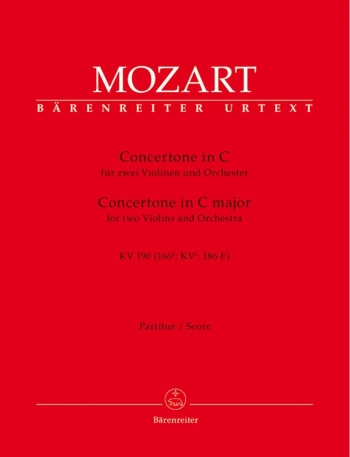 Concertone in C (K.190) (Urtext). : Large Score Paperback: (Barenreiter)