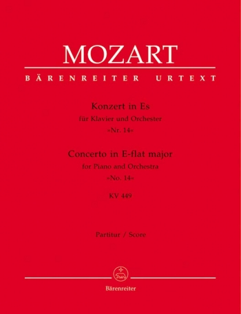 Concerto for Piano No.14 in E-flat (K.449) (Urtext). : Large Score Paperback: (Barenreiter)