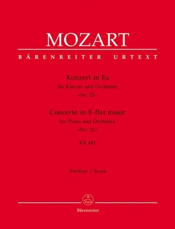 Concerto for Piano No.22 in E-flat (K.482) (Urtext). : Large Score Paperback: (Barenreiter)