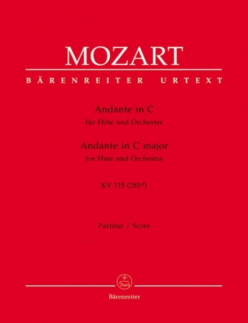 Andante for Flute in C (K.315) (Urtext). : Large Score Paperback: (Barenreiter)