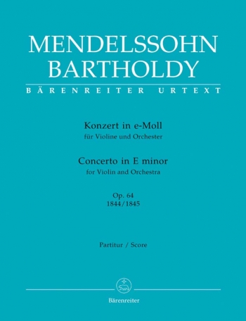 Concerto for Violin in E minor, Op.64 (Urtext). (Early version and later popular version).: Large Sc