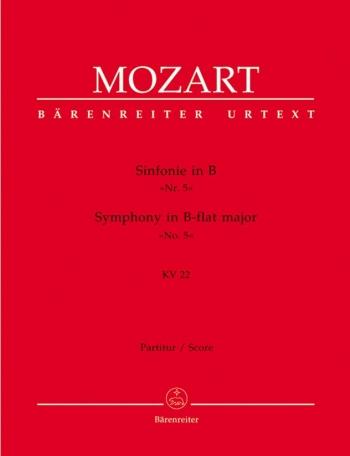 Symphony No. 5 in B-flat (K.22) (Urtext). : Large Score Paperback: (Barenreiter)