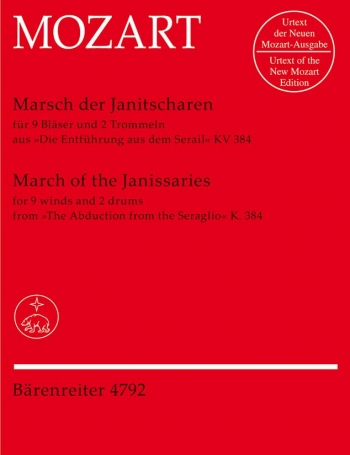 Janissary March in C from The Abduction from the Seraglio (Urtext) : Score & parts: (Barenreiter)