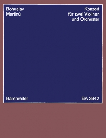 Concerto for Two Violins (1950). : Study score: (Barenreiter)