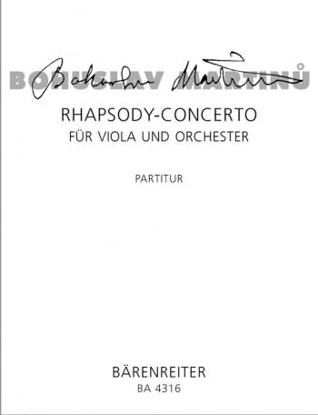 Rhapsody-Concerto (1952). : Study score: (Barenreiter)