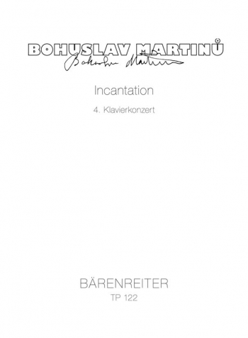 Concerto for Piano No.4 (Incantation) (1955/56). : Study score: (Barenreiter)