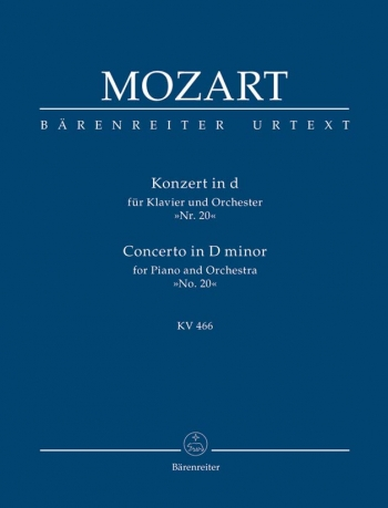 Concerto for Piano No.20 in D minor (K.466) (Urtext). : Study score: (Barenreiter)
