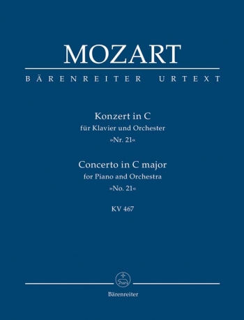 Concerto for Piano No.21 in C (K.467) (Urtext). : Study score: (Barenreiter)
