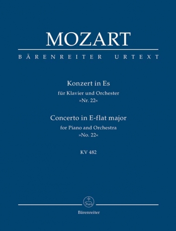 Concerto for Piano No.22 in E-flat (K.482) (Urtext). : Study score: (Barenreiter)