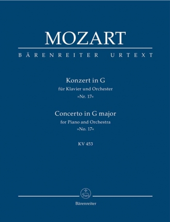 Concerto for Piano No.17 in G (K.453) (Urtext). : Study score: (Barenreiter)