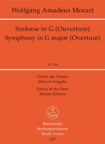 Symphony No.32 in G (K.318) (Overture in Italian Style) (Urtext). : Study score: (Barenreiter)