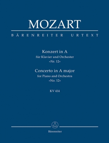 Concerto for Piano No.12 in A  (K.414) (Urtext) Study score (Barenreiter)