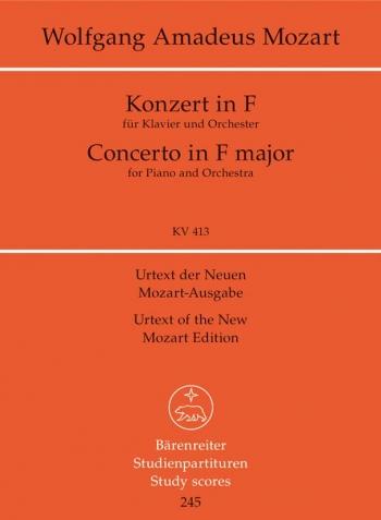 Concerto for Piano No.11 in F  (K.413) (Urtext) Study score (Barenreiter)