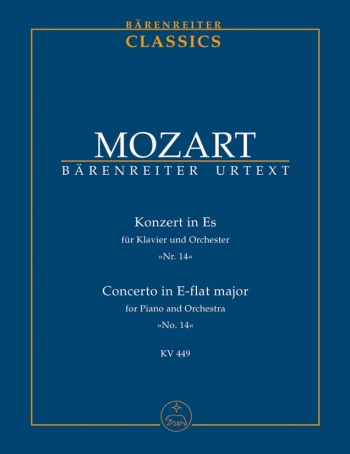 Concerto for Piano No.14 in E-flat (K.449) (Urtext) Study score (Barenreiter)