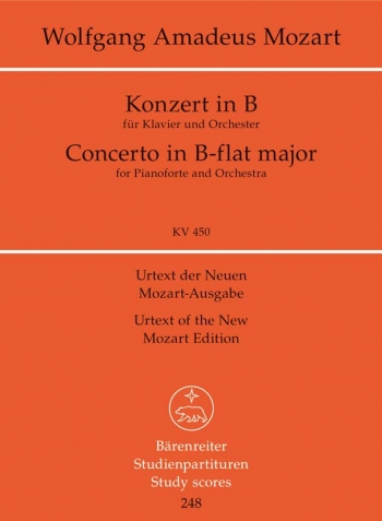 Concerto for Piano No.15 in B-flat (K.450) (Urtext) Study score (Barenreiter)