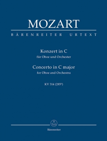 Concerto for Oboe in C (K.314) (K.285d) (Urtext) Study score (Barenreiter)