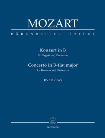 Concerto for Bassoon in B-flat (K.191) (K.186e) (Urtext) Study score (Barenreiter)