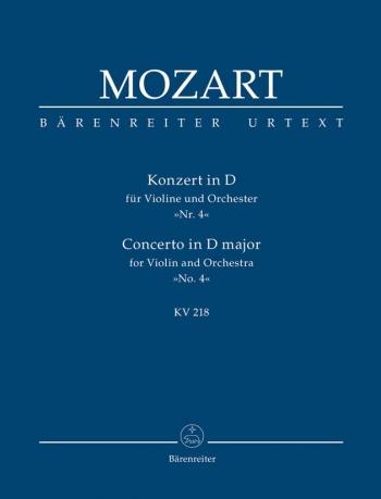 Concerto for Violin No.4 in D (K.218) (Urtext) Study score (Barenreiter)