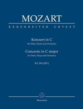 Concerto for Flute and Harp in C (K.299) (K.297c) (Urtext) Study score (Barenreiter)