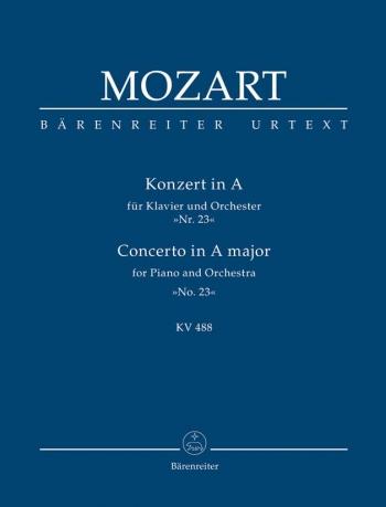 Concerto for Piano No.23 in A (K.488) (Urtext) Study Score (Barenreiter)
