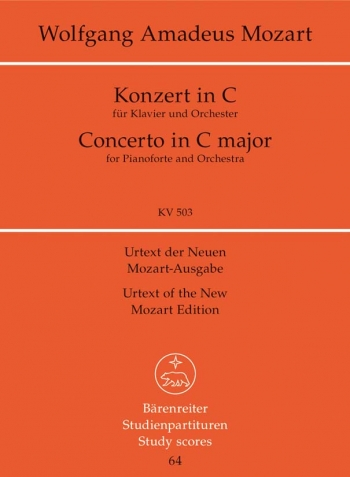 Concerto for Piano No.25 in C (K.503) (Urtext) Study Score (Barenreiter)