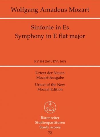 Symphony No.26 in E-flat (K.184) (K.161a) (Urtext) Study score (Barenreiter)