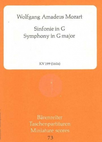 Symphony No.27 in G (K.199) (K.161b) (Urtext) Study score (Barenreiter)