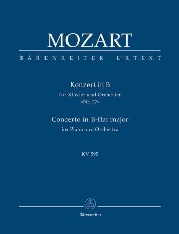 Concerto for Piano No.27 in B-flat (K.595) (Urtext) Study score (Barenreiter)